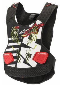 Alpinestars Brustpanzer Roost Guard SEQ Black White Red