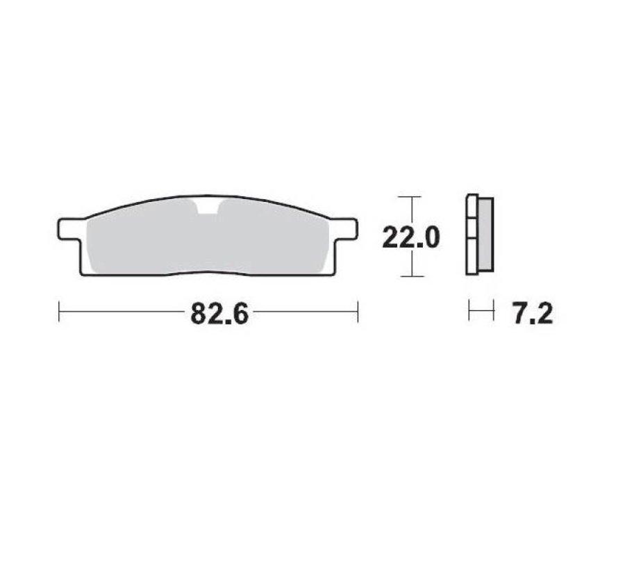 Bremsbelege Brakepad vorne für Yamaha YZ65
