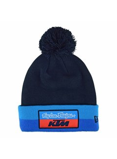Troy Lee Designs Beanie Pommel Haube Team KTM Stripe navy