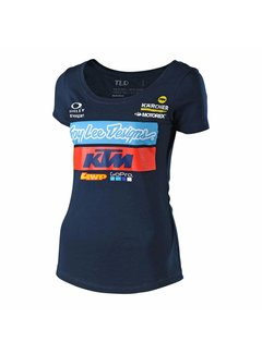 Troy Lee Designs Damen T-Shirt Team KTM Tee navy