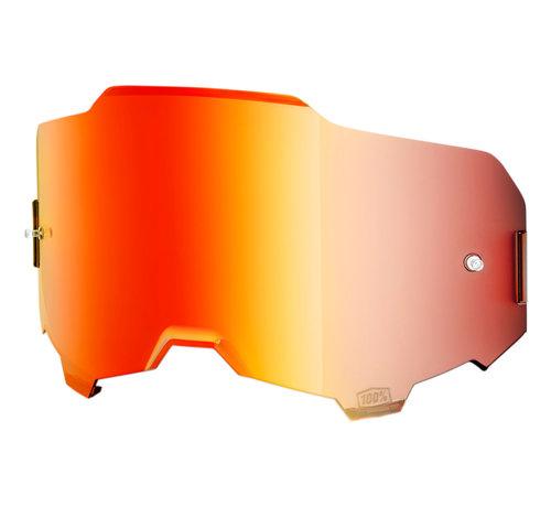 100 % Armega Glas - Ersatzglas Lens Mirror red