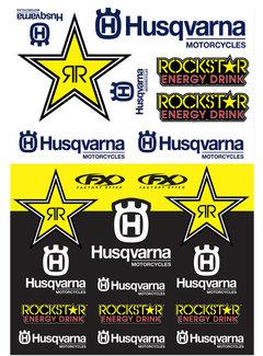 Factory Effex Universal Aufkleber-Bogen Husqvarna - Racing