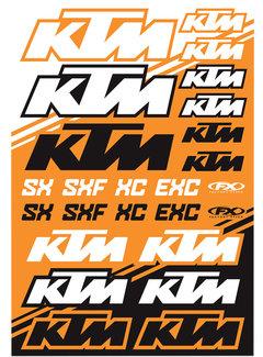 Factory Effex Universal Aufkleber-Bogen KTM