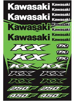 Factory Effex Universal Aufkleber-Bogen Kawasaki