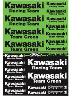Factory Effex Universal Aufkleber-Bogen Kawasaki - Racing