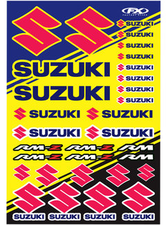 Factory Effex Universal Aufkleber - Bogen Suzuki