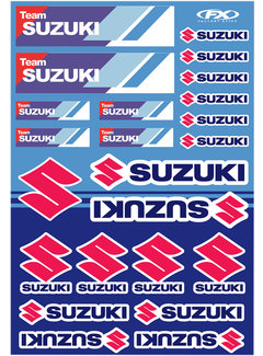 Factory Effex Universal Aufkleber - Bogen Suzuki - Racing