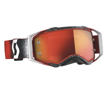 Scott MX Brille Prospect 2020 white/red / orange chrome works