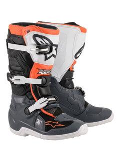 Alpinestars Stiefel Tech 7 S Jugensstiefel schwarz grau weiss orange