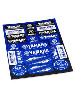 Yamaha Yamalube Sticker Set GYTR blu Cru