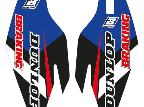 Blackbird Gabelschützer Aufkleber Dream 4 für Yamaha YZ WR