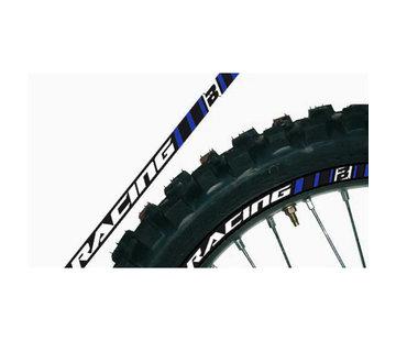 Blackbird Felgen Sticker blau für Yamaha YZ WR