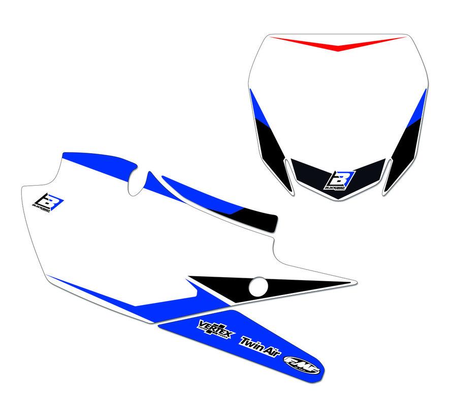 Startnummer - Sticker für Yamaha YZ125 YZ250 Bj. 06-14