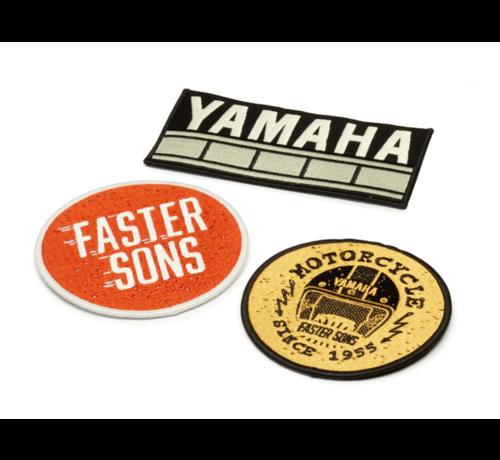 Yamaha FS Faster Sons Aufnäher VINTAGE (3 Stück)