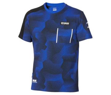 Yamaha Paddock Blue Camo T-Shirt für Herren
