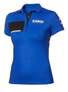 Yamaha Paddock Blue Polo T-Shirt für Damen
