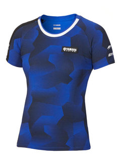 Yamaha Paddock Blue Camo T-Shirt für Damen