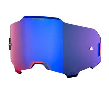 100 % Armega Glas - Ersatzglas Hiper Blau  Verspiegelt