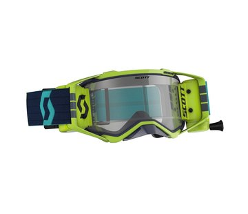 Scott MX-Brille Goggle Prospect WFS inkl. Roll Off System - blau gelb