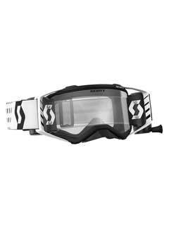 Scott MX-Brille Goggle Prospect WFS inkl. Roll Off System - weiss schwarz