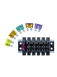 Büttner Elektronik Sicherungshalter FS-6 Schiene 6-fach