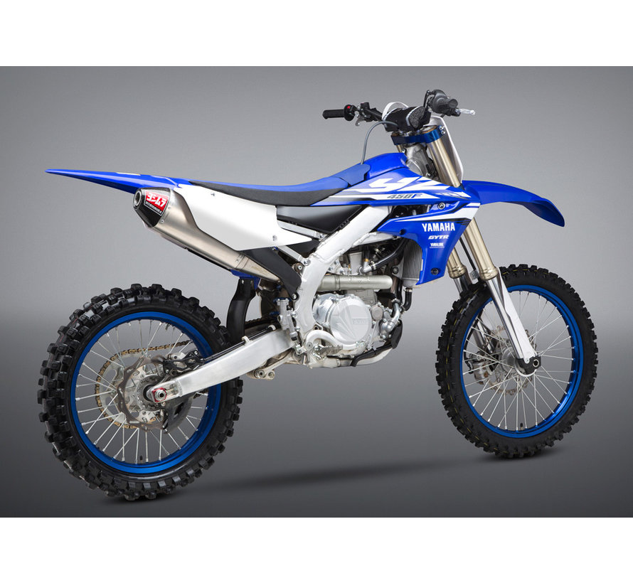 RS-4 Signature Series Stainless Steel Full Exhaust System Aluminum Slip-On/Carbon End Cap Yamaha YZ450F