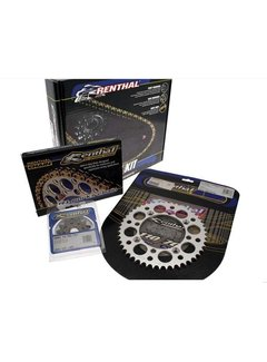 Renthal Kette Ritzel Kettenrad Kit 520 type R1 13/50 (Ultralight™ Self-Cleaning Rear Sprocket) Kawasaki KX250F ab. Bj. 2017