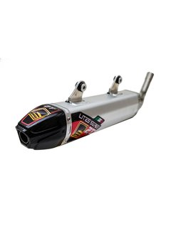 Fresco Carby Muffler Auspuff Aluminium / Carbon End Cap KTM SX125 Husqvarna TC125 Bj. 19-20