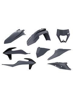 Polisport Plastikkit Bodykit grau für KTM EXC EXC-F  XC-W XCF-W ab Bj. 20