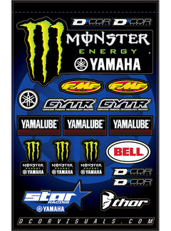 D´Cor Visuals Sticker Bogen Yamaha GYTR Star Monster