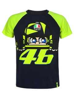 VR46 T-Shirt Windschild blue Kinder