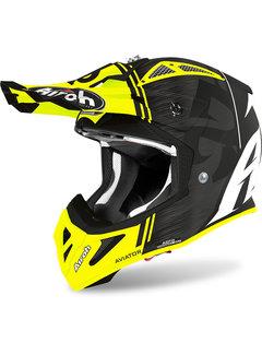 Airoh Helm Aviator ACE Kybon schwarz gelb matt