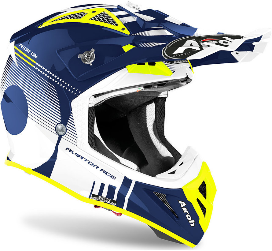 Helm Aviator ACE Nemesi blau glänzend