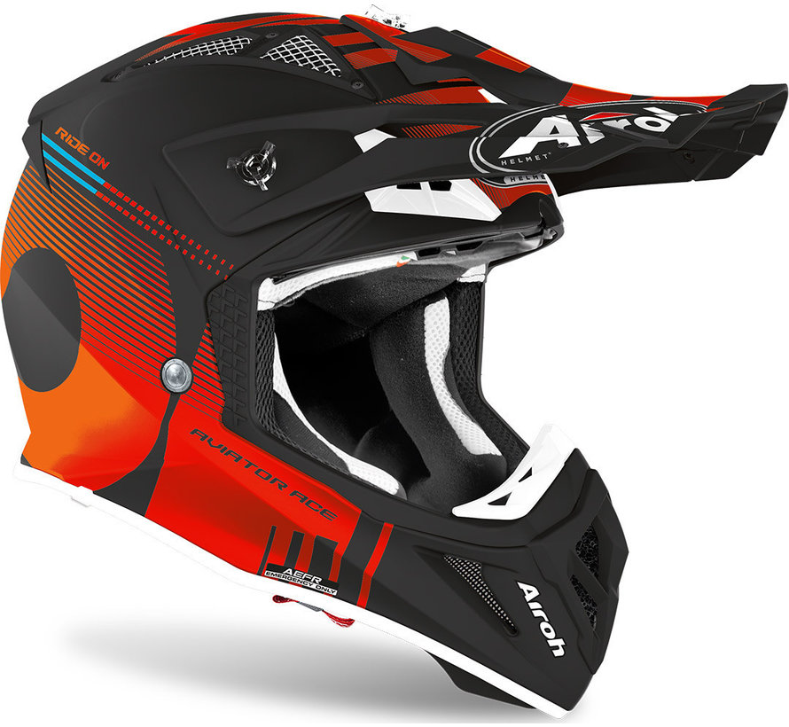 Helm Aviator ACE Nemesi orange matt
