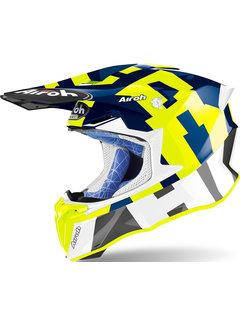 Airoh Twist 2.0 Frame gelb blau Motocross Helm