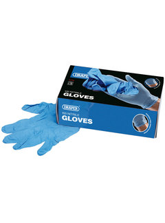 DRAPER Nitrile Handschuhe Safety Gloves Blue (100 pieces)