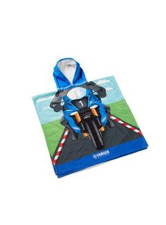 Yamaha Kinder - Ponchohandtuch mit Yamaha-Rennfahrer