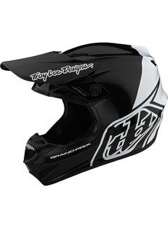 Troy Lee Designs GP Helm Motocross Block schwarz weiss