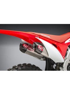 Yoshimura RS-9T Signature Series Dual Muffler Stainless Steel/Carbon End Cap Honda CRF250R