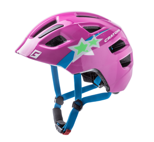 Cratoni Jugend Kinder Fahrradhelm Maxster Purple Star glossy