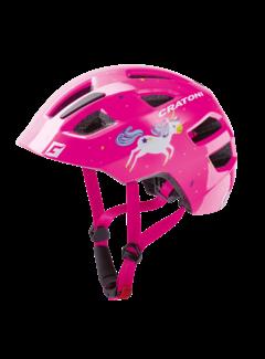 Cratoni Jugend Kinder Fahrradhelm Maxster unicorn pink glossy