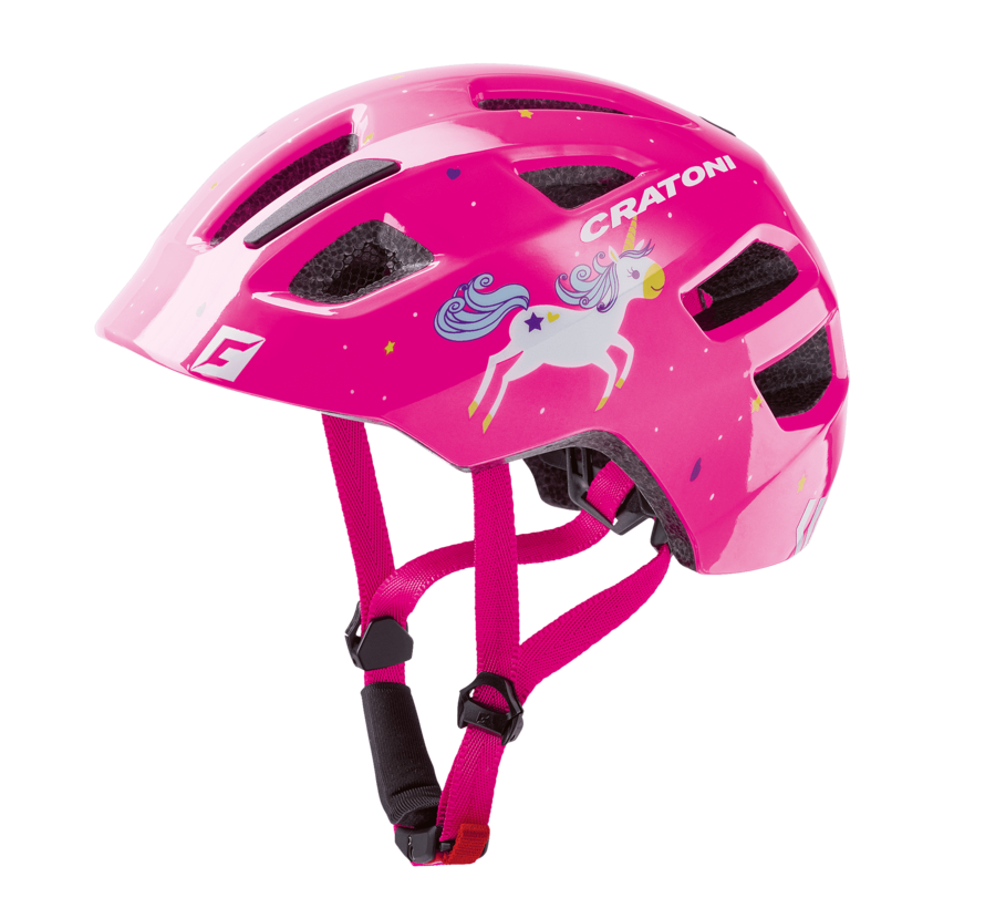 Jugend Kinder Fahrradhelm Maxster unicorn pink glossy