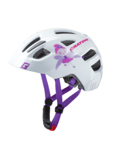 Cratoni Jugend Kinder Fahrradhelm Maxster fay white glosy