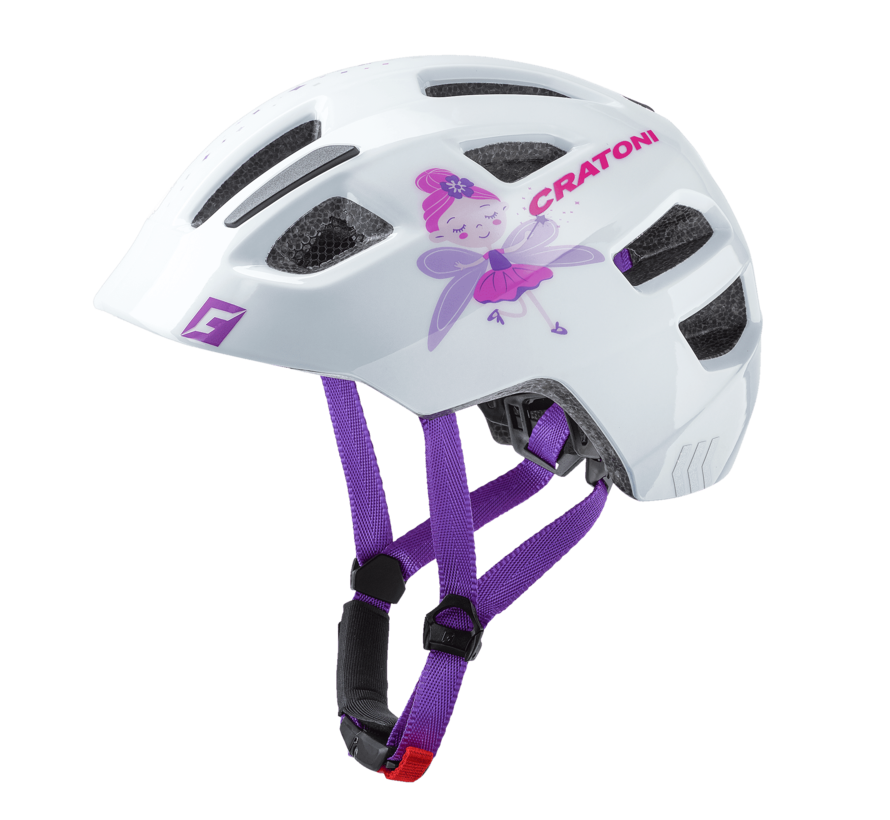 Jugend Kinder Fahrradhelm Maxster fay white glosy