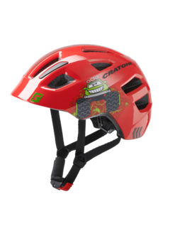 Cratoni Jugend Kinder Fahrradhelm Maxster truck red glossy