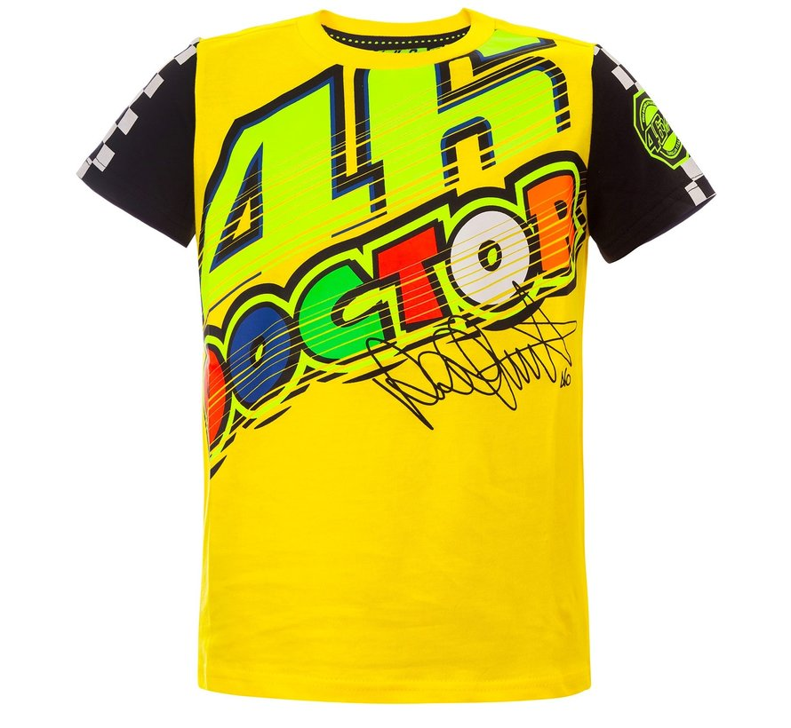 T-Shirt VR46 The-Doctor gelb Kid