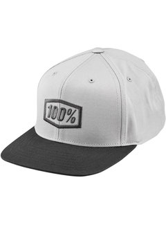 100 % Kinder Cap Youth Essential Snapback Hat grau