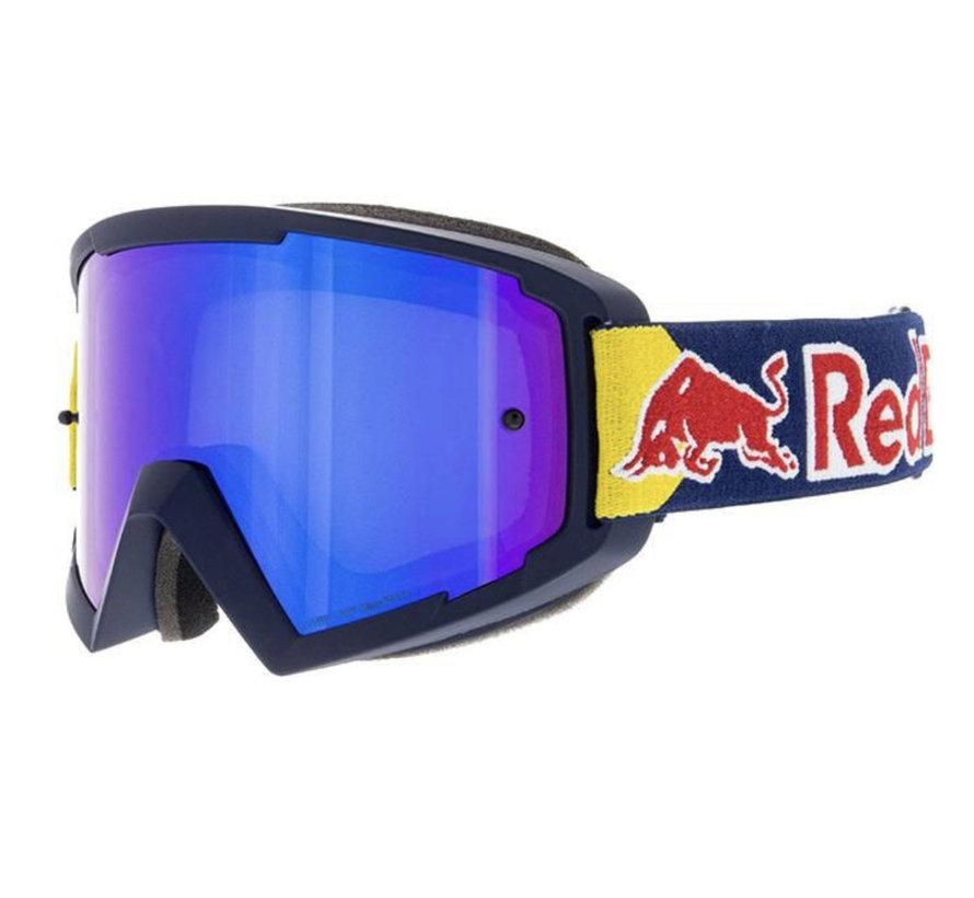 Red Bull Whip MX Brille blau violett verspiegelt