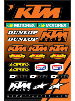 D´Cor Visuals Sticker Aufkleber Bogen KTM Racing