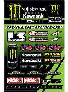D´Cor Visuals Sticker Aufkleber Bogen Kawasaki Racing